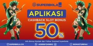 Aplikasi Cashback Paling Bonafit Bermain Game Slot Online di Superbola