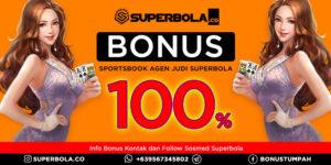 100% deposit bonus sports klaim di Superbola Agen Judi Terpercaya